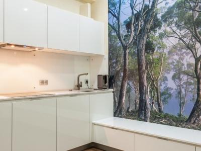 доступ в угол кухни через смежный шкаф