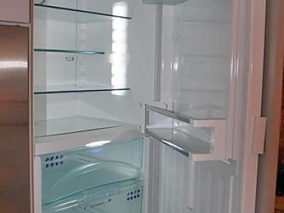 Встроенный холодильник классическое исполнение в скандинавском стиле