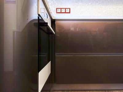 глянцевый мдф с эффектом металлического блеска особенно эффектно смотрится на радиусных фасадах