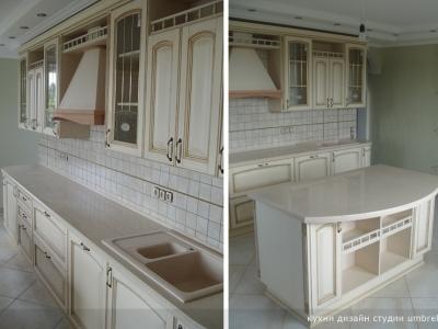 островная конфигурация кухни- для просторных помещений с большим количеством света