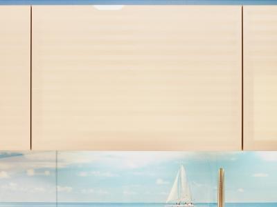 фасады из стекла с нанесенным рисунком  из шлифованных полосок