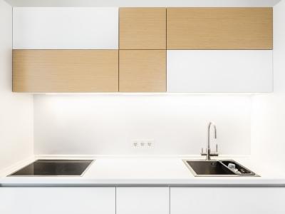 ничего лишнего, но вместе с тем функционально и практично — основная идея кухни.