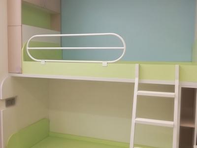 В изготовлении детской комнаты использовались экологически чистые материалы