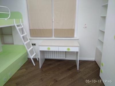 В небольшом пространстве детской  комнате все функционально