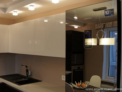 стеклянный глянцевый холодильник  samsung