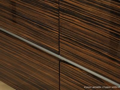 глянцевый шпон эбенового дерева