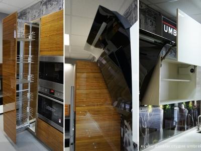 на кухне установлен шкаф карго с доводкой
