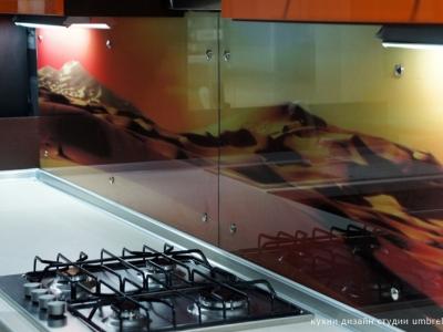 стеклянная панель с рисунком пустыни