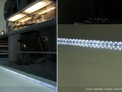 тонкая светодиодная полоска для кухни