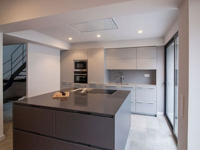 линейно - островное исполнение кухонного гарнитура