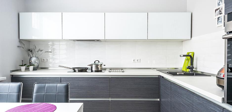 Строгая минималистичная кухня