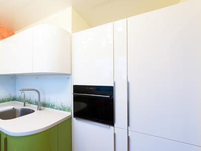 Холодильник, морозильник, посудомоечная машина и духовой шкаф в одной стенке