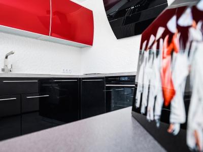 хозяйка сама подбирала оригинальные аксессуары под будущую кухню