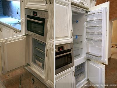 встраиваемый холодильник и морозильник