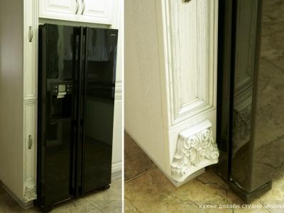встраиваемый холодильник side by side