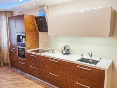 верхние шкафы кухни из глянцевого мдф