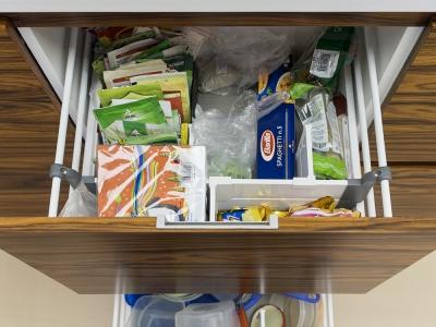 системы разделения пространства внутри ящиков кухни