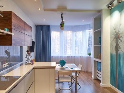 необходимый перепад кухонной и обеденной высот для удобства