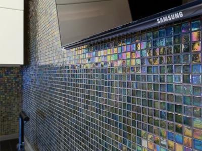 наборная эффектная стеклянная мозаика