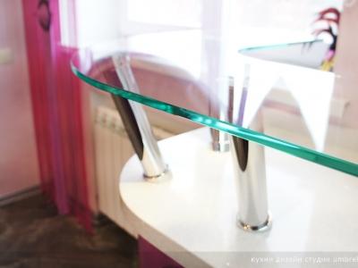 хромированные держатели- опоры для стекла