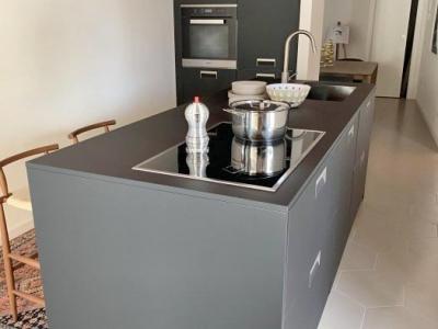 Современная кухня с островом. Модель без верхних баз.