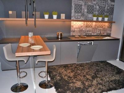 Современная кухня loft Модель без верхних баз ящиков